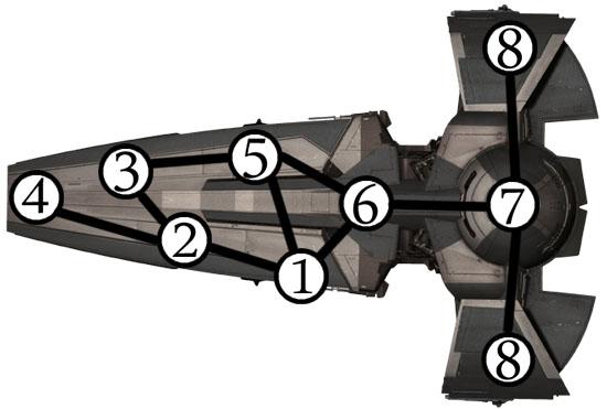 Карта корабля ситхов