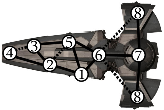 Карта корабля ситхов с секретными ходами